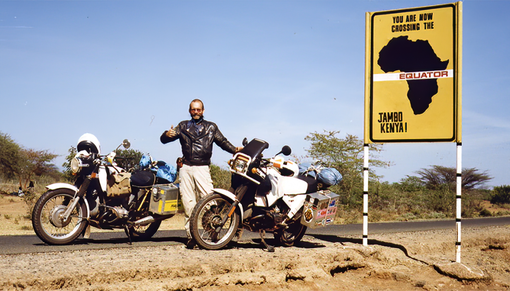 Sam Manicom Into Africa  motorbike adventure book